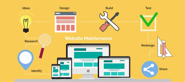 Website maintenance process